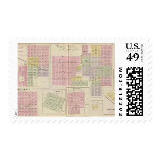 Walnut City, Rush Centre, La Crosse, Kansas Postage