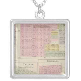 Walnut City, Rush Centre, La Crosse, Kansas Silver Plated Necklace