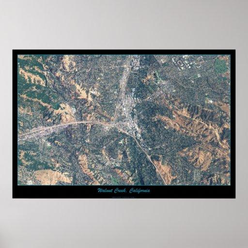 Walnut Creek, poster del satélite de California