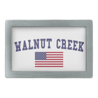 Walnut Creek US Flag Rectangular Belt Buckle