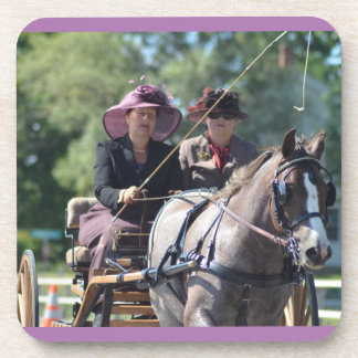 walnut hill carriage driving horse show beverage coaster