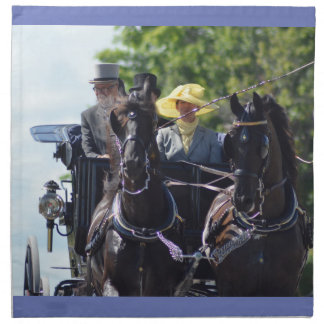 walnut hill carriage driving horse show cloth napkin