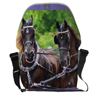 walnut hill carriage driving horse show courier bag