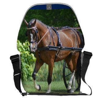 walnut hill carriage driving horse show messenger bag