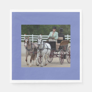 walnut hill carriage driving horse show paper napkin