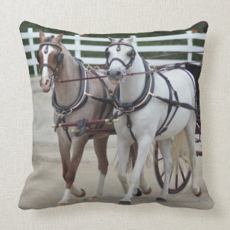walnut hill carriage driving horse show pillow