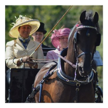 Art Themed Walnut Hill Carriage Driving Horse Show Poster