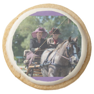 walnut hill carriage driving horse show round shortbread cookie