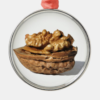 Walnut Metal Ornament