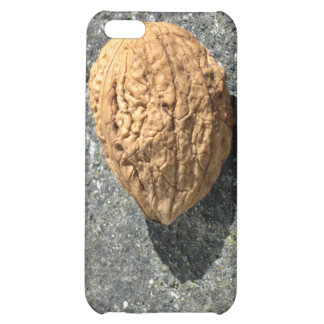 Walnut on a granule cover for iPhone 5C