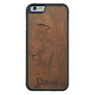 Walnut on Maple Carved Wood iPhone 6 case
