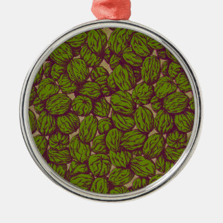 Walnut Pattern Metal Ornament