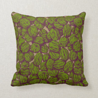 Walnut Pattern Over Gold Throw Pillow
