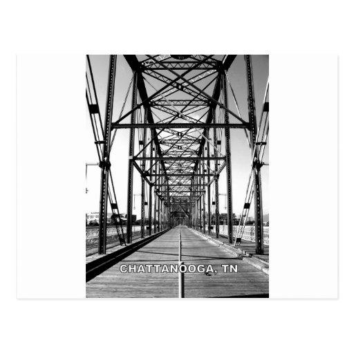 WALNUT STREET BRIDGE - CHATTANOOGA, TN POSTCARD