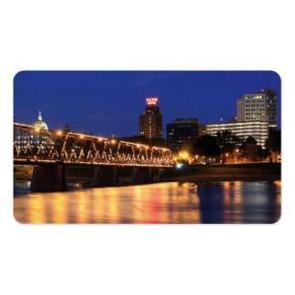 Walnut Street Bridge Harrisburg Pennsylvania Double-Sided Standard Business Cards (Pack Of 100)