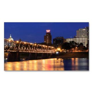Walnut Street Bridge Harrisburg Pennsylvania Magnetic Business Cards (Pack Of 25)