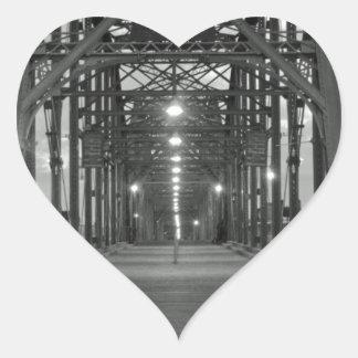 Walnut Street Bridge Heart Sticker