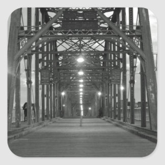 Walnut Street Bridge Square Sticker