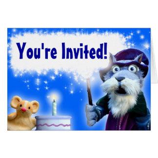 Walnut the Wizard Birthday Invitation
