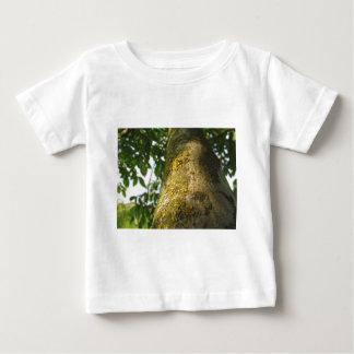 Walnut tree trunk with yellow moss fungus baby T-Shirt
