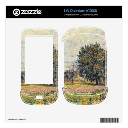 Walnut trees in the sun, in early October - Sisley Decal For LG Quantum
