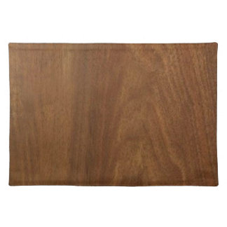 WALNUT WOOD American finish  blank blanche + TEXT Cloth Placemat