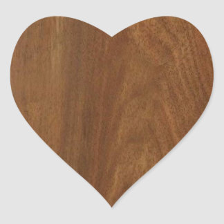 WALNUT WOOD American finish  blank blanche + TEXT Heart Sticker