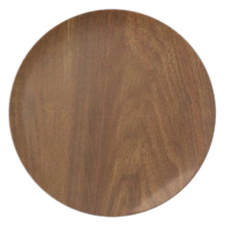WALNUT WOOD American finish  blank blanche + TEXT Plate