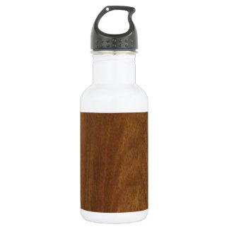 WALNUT WOOD American finish  blank blanche + TEXT Water Bottle