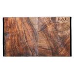 Walnut (wood grain)  Folio iPad case *Personalize*