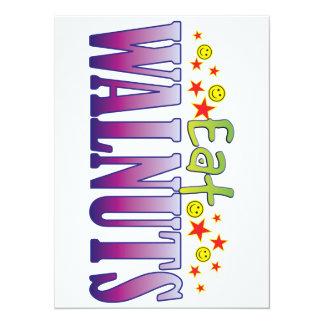 Walnuts Eat 5.5x7.5 Paper Invitation Card