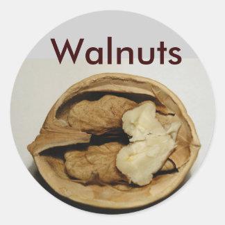 Walnuts stickers