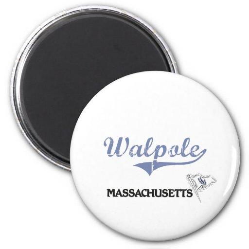 Walpole Massachusetts City Classic Magnets