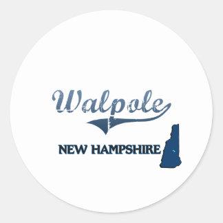 Walpole New Hampshire City Classic Round Sticker