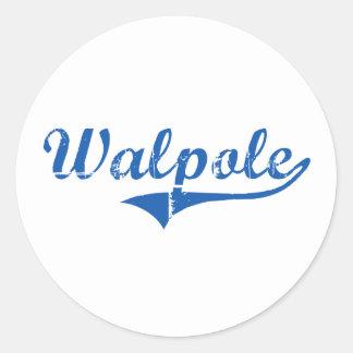 Walpole New Hampshire Classic Design Round Sticker