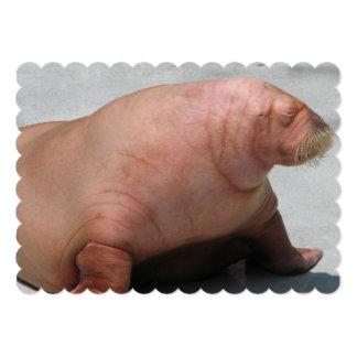 walrus-5.jpg invitación 12,7 x 17,8 cm