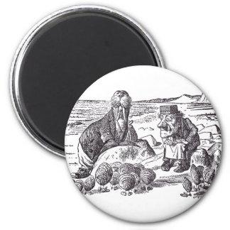 Walrus and Carpenter 2 2 Inch Round Magnet