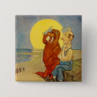 Walrus and the Carpenter Button