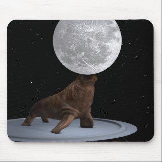 Walrus Balancing The Moon Mouse Pad