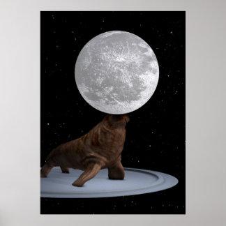 Walrus Balancing The Moon Poster