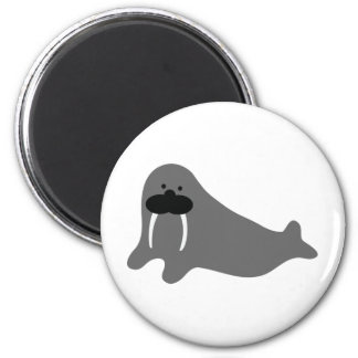 walrus comic icon 2 inch round magnet