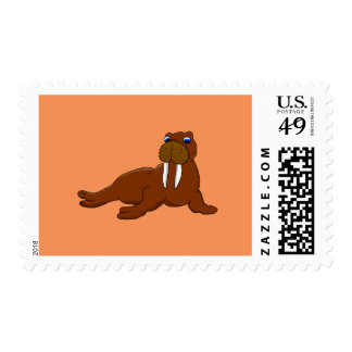 Walrus design matching stationery postage stamp