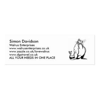 Walrus Enterprises Business Cards ...