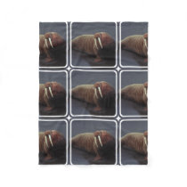 Walrus Fleece Blanket