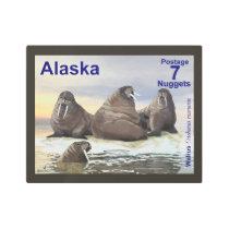 Walrus - Four Brothers - Alaska Postage Metal Print