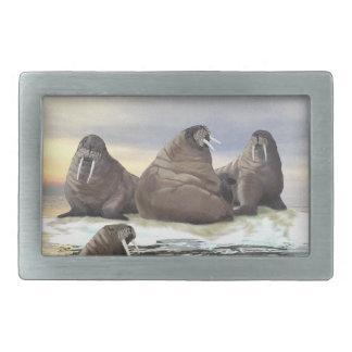 Walrus - Four Brothers Rectangular Belt Buckle
