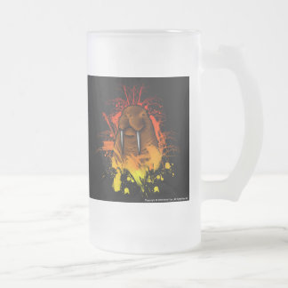 Walrus Frosted Glass Beer Mug