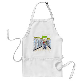 Walrus Frozen Food Section Funny Adult Apron