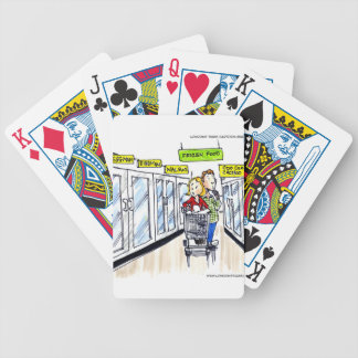 Walrus Frozen Food Section Funny Bicycle Playing Cards