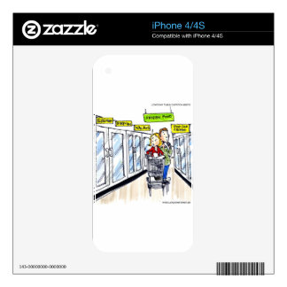 Walrus Frozen Food Section Funny iPhone 4 Skins